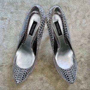 White House Black Market Reptile Sparkle Heels